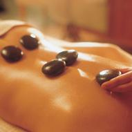 Hotstone massage werkt erg ontspannend!